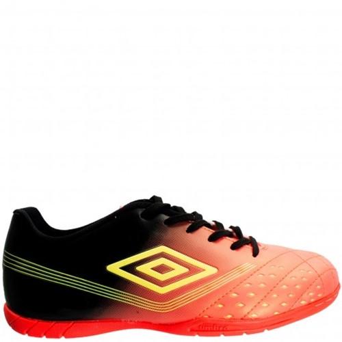 Bizz Store - Chuteira Futsal Umbro Fifty Indoor Laranja/Cinza