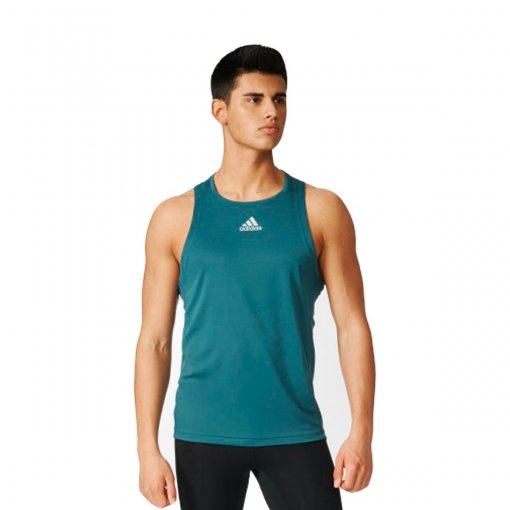 Bizz Store - Regata Masculina Adidas Sequentials Verde Corrida