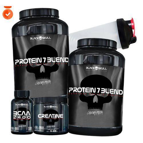 Black Skull 2x Whey/wey Protein Blend 834g=1,7kg+creatina+bcaa