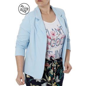 Blazer Plus Size Feminino Autentique Azul G1