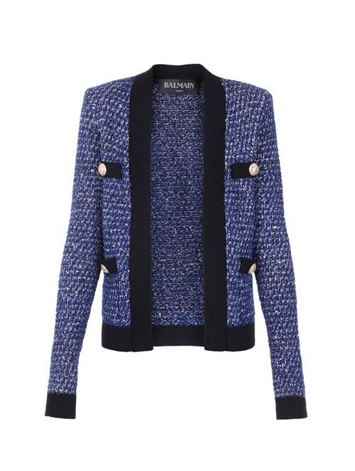 Blazer Tweed Azul Tamanho 36