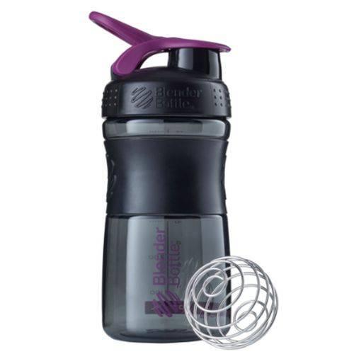 Blender Bottle Sport Mixer Preto C/ Roxo (590ml) - Blender Bottle