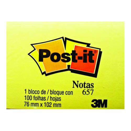 Bloco Adesivo 3M Post-It 076 X 102 Mm Amarelo HB004088124
