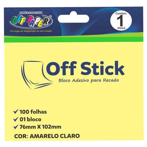 Bloco Adesivo Off Stick 76x102 Amarelo 100 Folhas 1026692