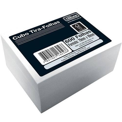 Bloco Anotação Tilibra Cubo Tira Folhas 079 X 099 Mm Branco 162566
