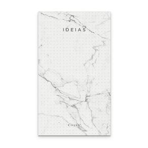 Bloco Anotações Mármore 10,5x18 - Branco Pontado