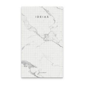 Bloco Anotações Mármore 10,5x18 - Branco Quadriculado
