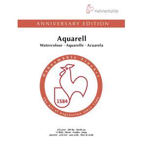 Bloco Aquarela Aniversary 425 G/m² G.F 30 X 40 Cm com 15 Folhas Hahnemuhle