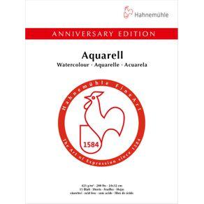 Bloco Aquarela Aniversary 425 G/m² G.F 24 X 32 Cm com 15 Folhas Hahnemuhle