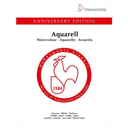 Bloco Aquarela Aniversary 425 G/m² G.f 36 X 48 Cm com 15 Folhas Hahnemuhle