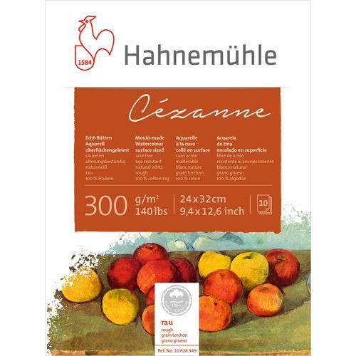 Bloco Aquarela Cezanne 300 G/m² Grain Torchon 24 X 32 Cm com 10 Folhas Hahnemuhle