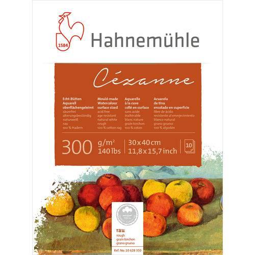 Bloco Aquarela Cezanne 300 G/m² Grain Tourchon 30 X 40 Cm com 10 Folhas Hahnemuhle
