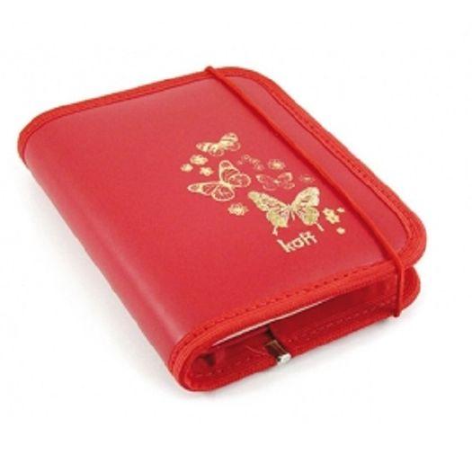 Bloco C/Capa Borboleta Vermelha 7040 13,5x10cm Koff