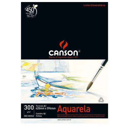 Bloco Canson Aquarela – Mix Media Linha Universitária 300g/M² A2 com 12 Folhas – 66667182