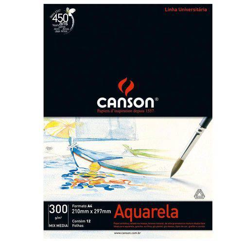 Bloco Canson Aquarela – Mix Media Linha Universitária 300g/M² A4 com 12 Folhas – 66667180