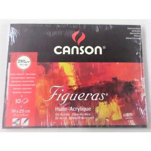 Bloco Canson Figueras Oleo/Acrilico 290grs 19x25cm C/10 Folhas