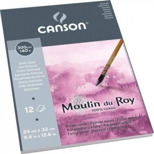 Bloco Canson Moulin Du Roy Grain Satin 300grs 30x40 C/12 Folhas