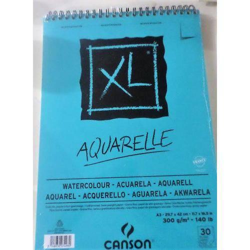 Bloco Canson Xl Aquarelle 300grs A3 C/30 Folhas