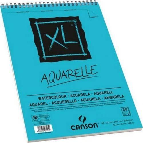 Bloco Canson Xl Aquarelle 300Grs A4 C/30 Folhas