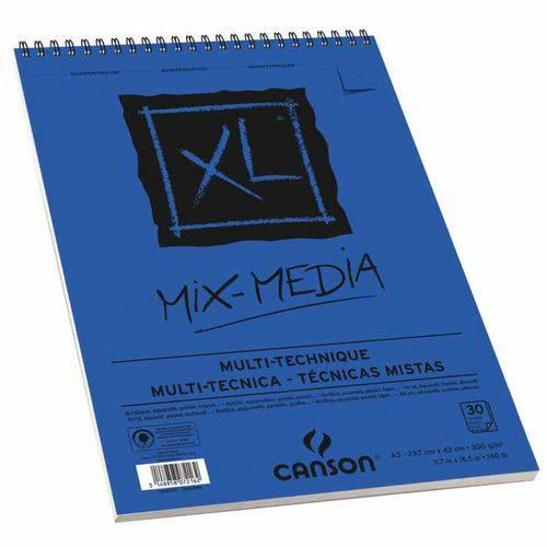 Bloco Canson Xl Mix Media 300grs A3 C-30 Folhas