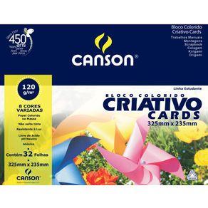 Bloco Colorido Criativo Card Estudante 120 G/m² A-4+ 23,5 X 32,5 Cm com 32 Folhas Canson