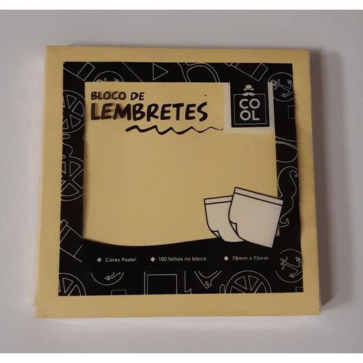 Bloco de Anotações Adesivo Amarelo Pastel 100f 7,5x7,5cm 743123 Plm