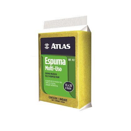 Bloco de Espuma Multiuso Amarela 13X20X6 Atlas