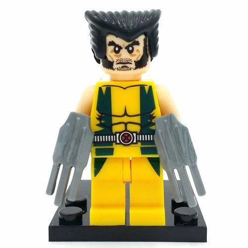 Bloco de Montar Wolverine Xmen Logan Marvel Compatível LEGO