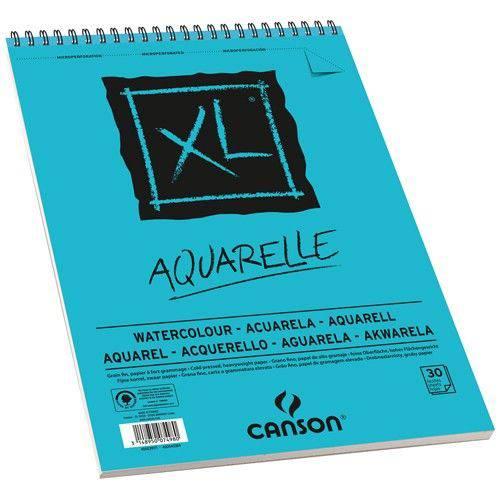 Bloco de Papel Canson XL Aquarelle 300g A4 21x29,7cm com 30 Folhas