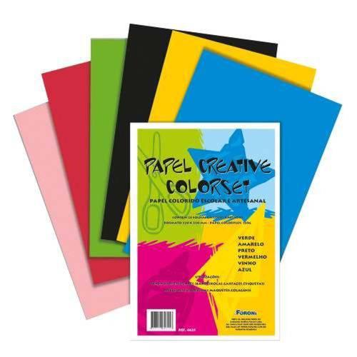 Bloco de Papel Creative Color Set 6 Cores 24 Folhas 120g Foroni