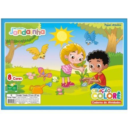 Bloco de Papel Criação Colorê 8 Cores 32 Folhas 120g Jandaia