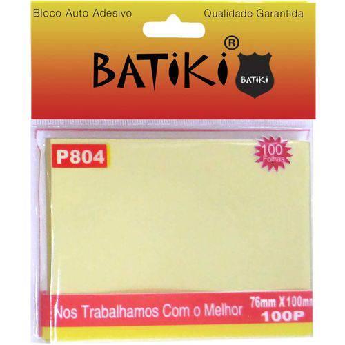 Bloco de Recado Autoadesivo Amarelo 76x100mm. C/100fls.