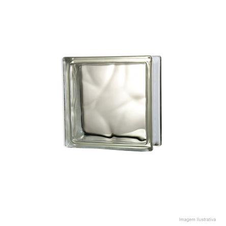 Bloco de Vidro Wave 19x19cm Incolor Exclusivo Telhanorte