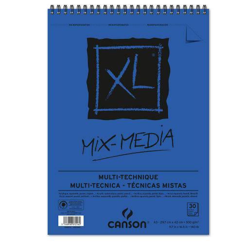 Bloco Espiralado Canson Xl® Mix Media 300g/M² A3 29,7 X 42 Cm com 30 Folhas – 200087216
