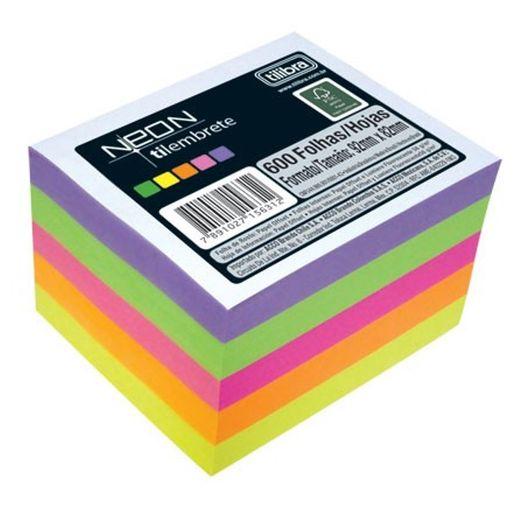 Bloco Lembrete 600f Tilembrete Neon 15631 Tilibra