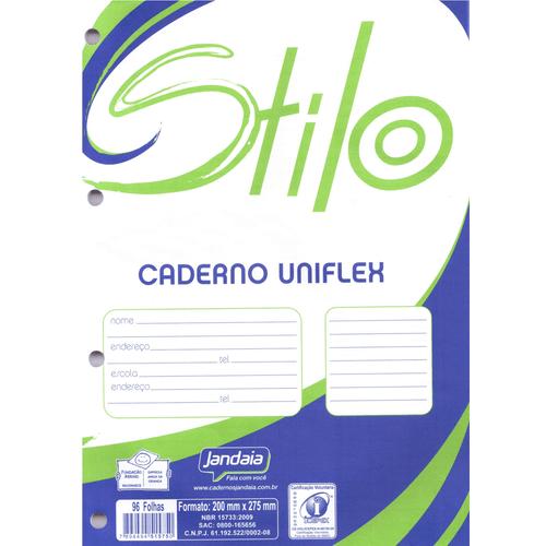 Bloco para Fichário Jandaia Stilo 96 Folhas Branco - 10 Unidades 1023673