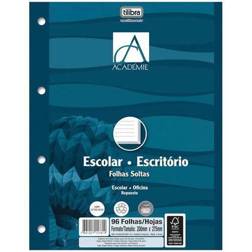 Bloco para Fichario Universit. Academie Branco 200f 203x280m Cx.c/12 Tilibra