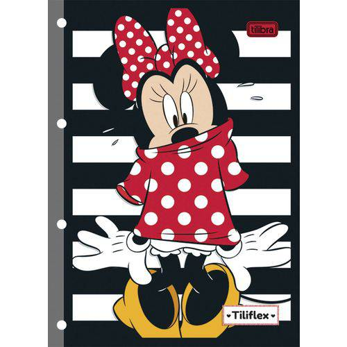 Bloco para Fichario Universit. Minnie Decorado 80f. Tilibra Pct.c/05