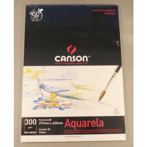 Bloco Pintura Canson Universitário Mix Media A3 300gr - 12 Fls