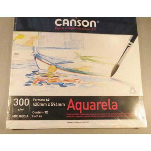 Bloco Pintura Canson Universitário Mix Media A2 300gr - 12fls