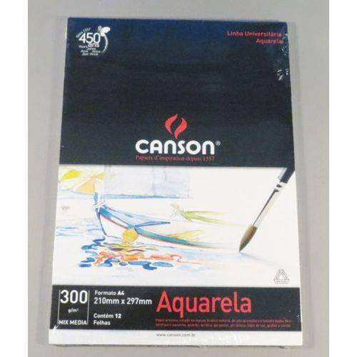 Bloco Pintura Canson Universitário Mix Media A4 300gr - 12fls