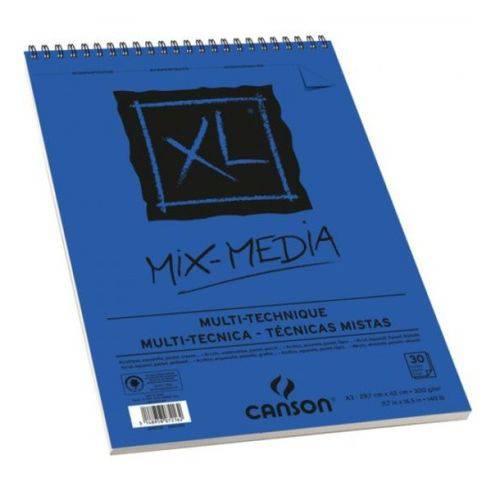 Bloco Pintura Canson Xl Mix Media A3 300gr - 30 Fls