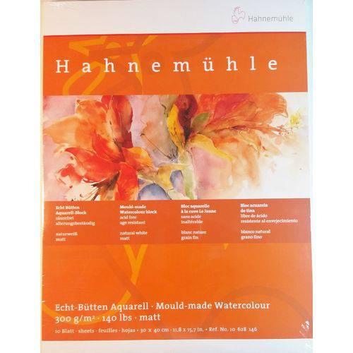 Bloco Pintura Hahnemuhle Aquarela 30x40cm 300gr Cp 10fls