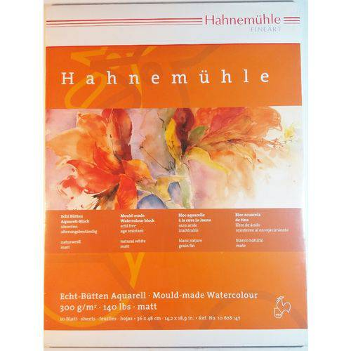 Bloco Pintura Hahnemuhle Aquarela 36x48cm 300gr Cp 10fls