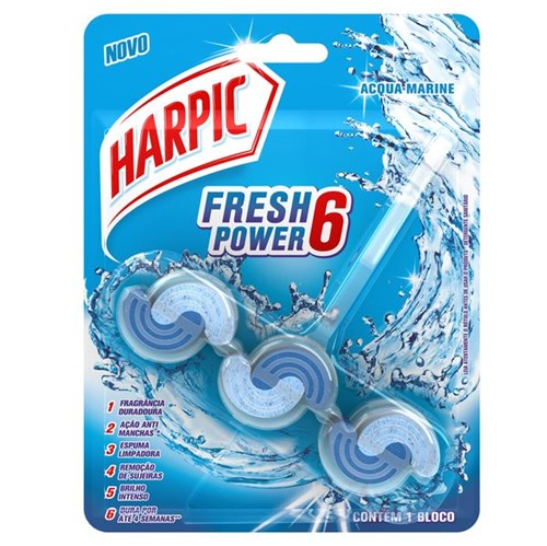 Bloco Sanitario Harpic Power6 39g Acqua Marine