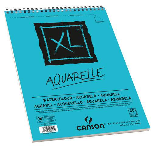 Bloco Xl Aquarelle 300 G/m² A-4 21,0 X 29,7 Cm com 30 Folhas Canson