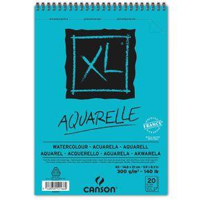 Bloco XL Aquarelle 300 G/m² A-5 14,8 X 21 Cm com 20 Folhas Canson