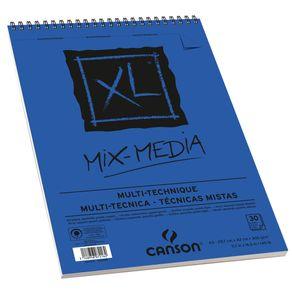 Bloco XL Mix Media 300 G/m² A-3 29,7 X 42,0 Cm com 30 Folhas Canson