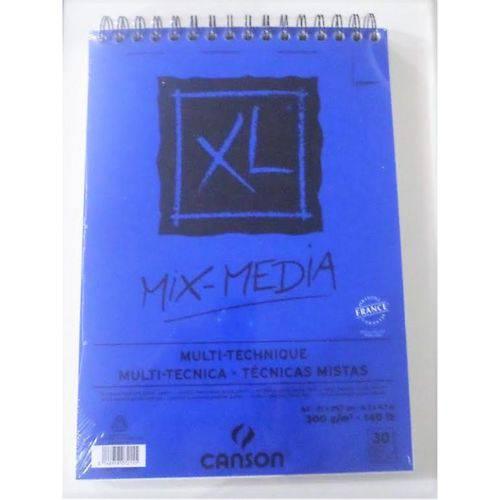 Bloco Xl Mix-Media A4 300g com 30 Folhas - Canson
