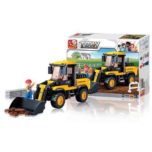 Blocos Construção Empilhadeira 212 Peças - BR827